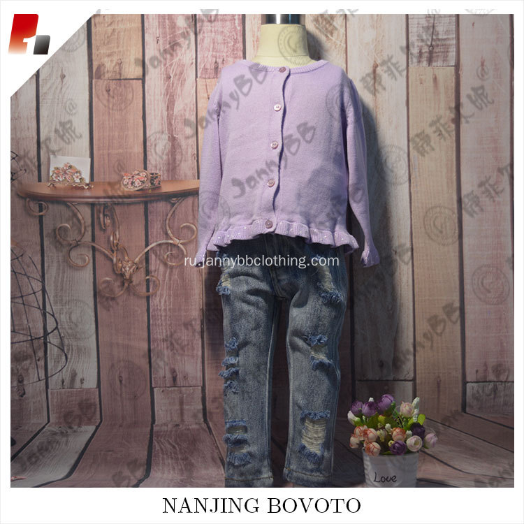 Purple fashion children sweater