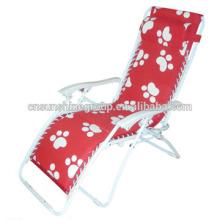 Salão de dobramento relaxamos a cadeira com função reclinável, ao ar livre do chaise
