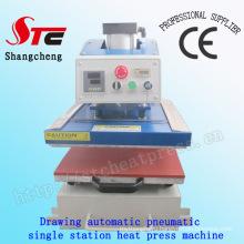 Автоматическая Одиночная станции машина давления жары 40*50см рисование пневматическая машина передачи тепла жары тенниски печатная машина НТС-Qd08