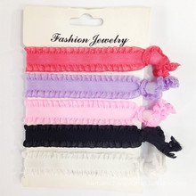 Elastic Lace Solid 5PCS of Pack Hair Ties (HEAD-338)