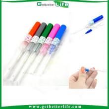 2015 Getbetterlife 100pcs/box 14 G, 16G, 18G, 20G, catéter 22G piercing agujas, aguja de Piercing de cánula
