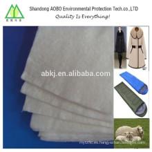 70% lana de fieltro perforado para la ropa