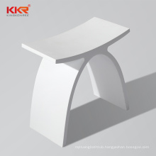 Artificial Stone Solid Surface Shower Bathroom Toilet Bench Seat Vanity Bathroom Stool