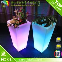 Pot de fleur changeant de couleur de LED pour la décoration à la maison