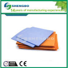 Needle punched nonwoven cleaning cloth orange 50*70cm blue 38*38cm