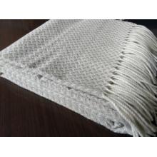 Woven 100% Pure Virgin Merino Wolle Fransenwurf