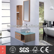 2014 Glossy double sink bathroom mirror cabinet
