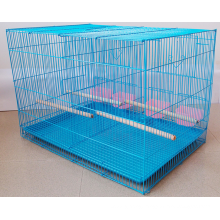 Bird cage with removable plastic tray and a door / round cage with hanging hook