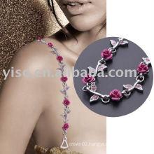 pretty floral fashion bra strap