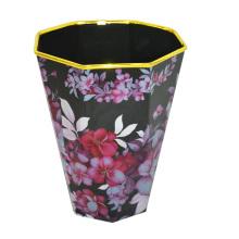 Пластиковый цветной чернильный открытый верхний мусорный ящик (B06-874-2)