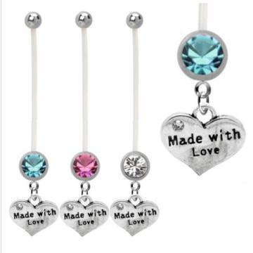 Pregnancy Maternity Belly Ring Family Heart