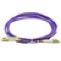 LC PC duplex OM4 duplex jumper, Fiber optical patch cord, multimode jumper