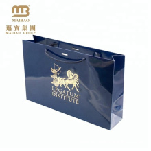 OEM Design Printed Glossy Laminated Luxury Gold Stamping Gift Custom Paper Shopping Bags Wholesale Price