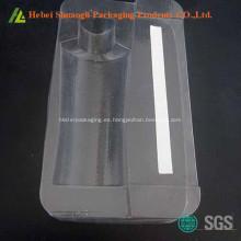 Paquete de bandeja cosmética de plástico transparente