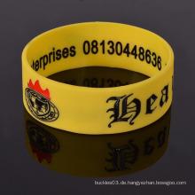 Kundenspezifische Sportarmband Wristband Silikon Armbänder für Männer