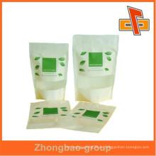 Bolsa de cremallera con cremallera de papel popular popular para alimentos