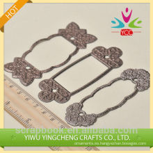 Marcos brillo etiqueta de fotograma o etiqueta marco 2016 hilado decoración co Reino Unido chinas surtidor de alibaba