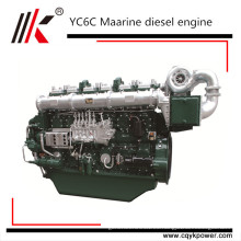 CE CCS aprobó 6 cilindros 1800rpm barco de pesca propulsión 100 caballos de fuerza chino marino motor diesel