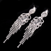 Luxury Earrings Fashion Rhinestone Tassel Drop earrings High quality Fashion Long Earrings for women