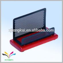 China supplier own factory desk namecard wood craft pen holder