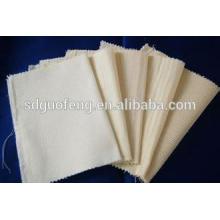 100% Baumwolle, gewebter grauer Canvas-Stoff