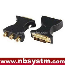 DVI(18+5) male to 3RCA female adapter