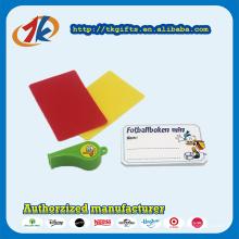 Kunststoff Schiedsrichter Sport Whistle rote und gelbe Karte Spielzeug