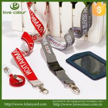 Hersteller Direktverkauf Praktisches Geschenk Lanyards / Abzeichen Kartenhalter Woven Logo Polyester Lanyard