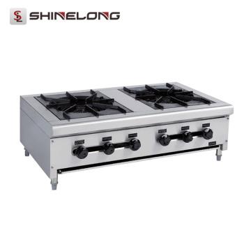Equipamento de cozinha Fio de cozinha Fogão de indução de gás 2 queimadores