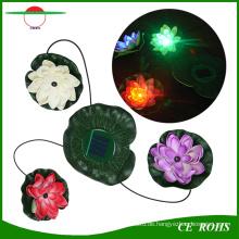 Solar Power Wasserdichte Pool Floating Lotus Solar Licht Nacht Blume Lampe für Garten Teiche Dekoration
