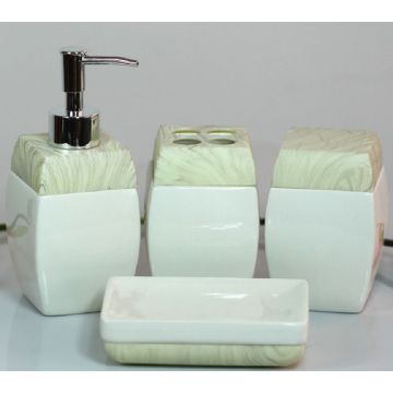 4 PC Of Solid Color Ceramic Bath Set