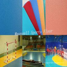 Bonne qualité Plancher de handball de vinyle en plastique