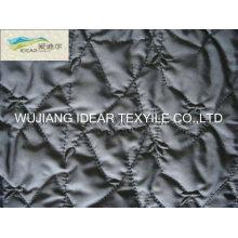 Bestickte Polyester Pongee Gewebe verklebt gestrickten Polyester Tricot Stoff