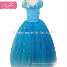 Золушка Девушки Платье Принцессы Дети Рождество Хэллоуин Косплей Костюм Блестки Туту Платье Vestidos