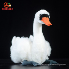 Custom Animal White Black Soft Swan And Stuffed Goose Plush Toy