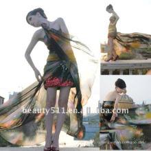 Astergarden реальные фото милая печатный сексуальное вечернее платье AS136