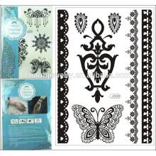 1PC Flash impermeable de la manera del tatuaje de las mujeres de la joyería de la alheña de la alheña de la henna atractiva de la boda del cordón de la henna del tatuaje j008