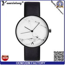 Yxl-275 Marble Face Watch Fashion Vogue Elegant Ladies Wrist Watch Leather Quartz Japan Movt Watch Men Wholesale