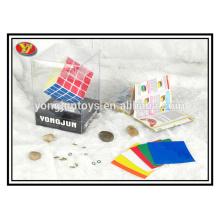 Cubos mágicos de plástico de cuerpo blanco 4x4
