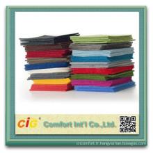 Polyester Plain respectueux de l'environnement en gros feutre Fabricr