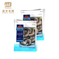 Three Side Sealed Custom Vivid Printing Shrimp Ziplock Aluminum Foil Plastic Packaging Bags for Frozen Food