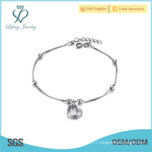 Hot sale high quality copper plated white gold fashion design anklets