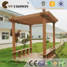 Garden decorative wood pergola WPC decking