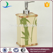 YSb40047-01-ld Bamboo Floral Bathroom liquid soap dispenser