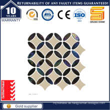 Marmor Mix Glas Mosaik Fliese EL4830