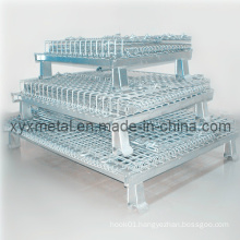 Collapsible Stackable Industrial Storage Galvanized Coating Wire Mesh Cage