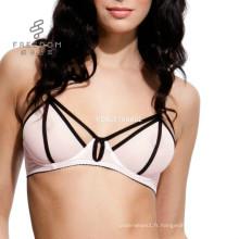 Chine en gros profonde V sous-vêtements sexy soutien-gorge sexy soutien-gorge de sexe images filles soutien-gorge de sous-vêtements nouveau design