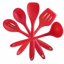 Juego de espátula de silicona de accesorios de cocina resistente al calor