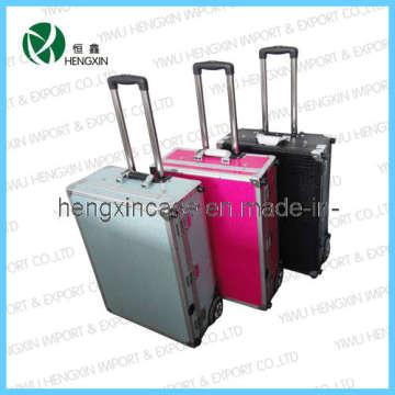 Aluminum Cosmetic Rolling Makeup Beauty Case Box