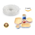 Reutilizable de silicona Stretch Lid Flexible Wrap Storage
